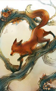 'Foxing Around' by Alex Dos Diaz  www.behance.net/th3wolfscanc3r