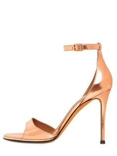 GIVENCHY - 100MM METALLIC LEATHER SANDALS