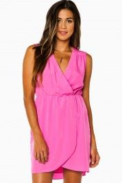 Tamryn Wrap Dress in Fuchsia