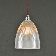 Vintage Style Prismatic Railway Pendant Light Bell
