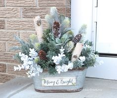 Excited to share this item from my shop: Christmas Centerpiece Farmhouse Centerpiece Modern Farmhouse White Birch Centerpiece Winter Centerpiece Winter Decor Winter Farmhouse Christmas Planters, Outdoor Christmas Decorations, Tree Decorations, Farmhouse Christmas Decor, Rustic Christmas, Christmas Diy, Primitive Christmas, Christmas Snowman, White Christmas