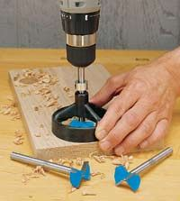 Good article on options when without a drill press.