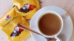 DXN Cream Coffee – az egészséges krém kávé Ticket Design, Chocolate Fondue, Cream, Coffee, Tableware, Desserts, Food, Creme Caramel, Kaffee