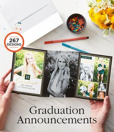 Congratulations to the Class of 2016. Recognize their accomplishments with a graduation announcement from Shutterfly. Choose from over 260 designs.