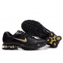 Nike Shox R4 black gold