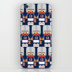 American+Football+Blue+and+White+iPhone+&+iPod+Skin+by+BoxEdsPaperCrafts+-+$15.00