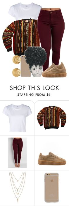 school .. by goddessnaii on Polyvore featuring RE/DONE, Puma, Versace, Forever 21 and Agent 18