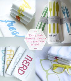 Completely Obsessed with these fun and funky napkins from Nicole Porter! #completelyobsessed