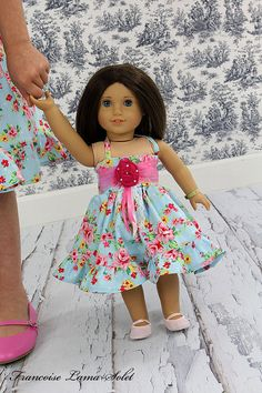"Rosabella 18"" doll dress American Girl doll style or 23"" doll"