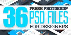 Free PSD Files: 36 Fresh Photoshop PSD Files for Designers #resources #design #PSD