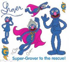 Colorbok Stickers Sesame Street Super Grover Flying | eBay