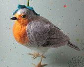 needle felted Robin by Robin   She is the best :-)