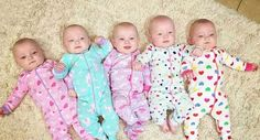 TLC introduces new big family, 'Outdaughtered,' where six girls are 5 and under Cute Kids, Cute Babies, Baby Kids, Outdaughtered Hazel, Hazel Grace, Busby Quints Names, Narnia, Tlc Outdaughtered, Busby Quintuplets