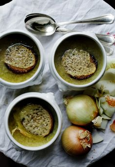 Old-fashioned French Onion Soup with Comté Tartines | Mimi Thorisson (recipe)