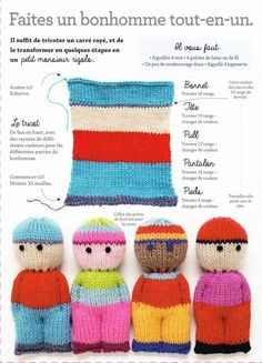 Knitted Doll Patterns, Knitted Dolls, Crochet Dolls, Knitting Patterns Free, Crochet Patterns, Sewing Patterns, Knitted Cat, Crochet Amigurumi, Hat Patterns