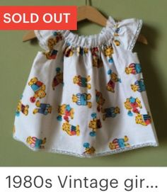 Vintage baby dress from the 1980s