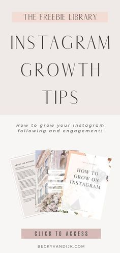 Are you looking for ways to grow your Instagram following, and boost your engagement? Are you seeking ways to connect with your audience and make sure they understand what your content is all about? In this free Instagram Growth eBook I share 5 of my top tips for growing on Instagram that you can implement today! Get access to this Instagram eBook and lots of other handy ebooks, printable and planners to help managing your blog and social media in the free Resource Library,