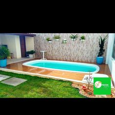 Pools For Small Yards, Small Backyard Pools, Swimming Pools Backyard, Ponds Backyard, Swimming Pool Designs, Pool Landscaping, Jacuzzi, Pond Tubs, Small Pool Design