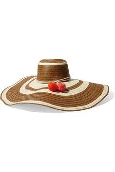 Sophie Anderson - Corozon pompom-embellished woven straw hat. Sombreros De  PajaSombreros De Verano 7cf70c1239a