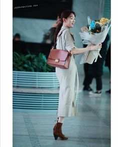 Lee Sung Kyung, Shoulder Bag, Shirt Dress, Bags, Fashion, Purses, Shirtdress, La Mode, Shoulder Bags