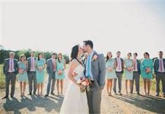 mint and coral wedding - Bing Images