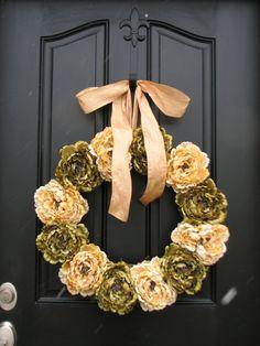 Spring Peonies Front Door Wreaths Traditional by twoinspireyou