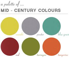 A Mid-Century palette nice combos with grey