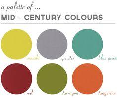A Mid-Century palette j'aime bien l'harmonie du haut