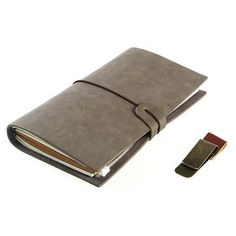 faux leather notebook - Business Card Organizer