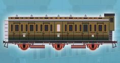 3-Axle Compartment-Car Free Railway Paper Model Download - http://www.papercraftsquare.com/3-axle-compartment-car-free-railway-paper-model-download.html#138, #CompartmentCar, #Railway