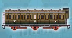 3-Axle Compartment-Car Free Railway Paper Model Download - http://www.papercraftsquare.com/3-axle-compartment-car-free-railway-paper-model-download.html#138, #CompartmentCar, #Railway