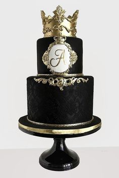 39 Black And White Wedding Cakes Ideas - Wedding cake - - Happy Cakes - Cake Design Black And White Wedding Cake, Black Wedding Cakes, Wedding Cupcakes, Wedding Cake Toppers, Black White, Black And Gold Birthday Cake, Cake Wedding, Black And Gold Cake, Fruit Wedding