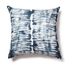 Swirled Stripe Pillow in Washed Navy
