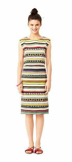 Dress in Strata Stripe Kate Spade @Pascale Lemay De Groof