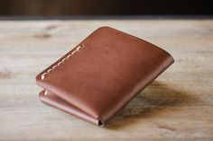 Leather bifold wallet by Cocuan on Etsy