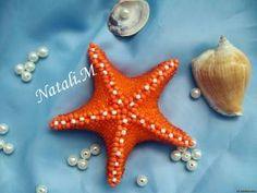 Beaded starfish.  AMAZING.