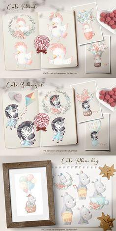 Tropical Animals, Graphic Design Company, Site Design, Card Making, Clip Art, Wall Decor, Invitations, Tote Bags, Cute