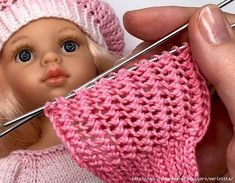 VK is the largest European social network with more than 100 million active users. Baby Knitting Patterns, Knitting Stiches, Lace Knitting, Doll Patterns, Crochet Doll Pattern, Crochet Dolls, Crochet Baby, Knit Crochet, Crochet Patterns