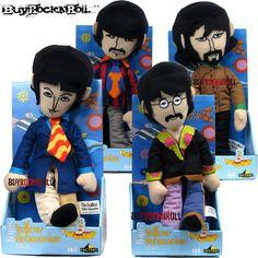 Beatles Collectors Memorabilia: Yellow Submarine Band Members Doll Set (Figures)