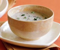 Wild Mushroom Soup with Sherry & Thyme Recipe