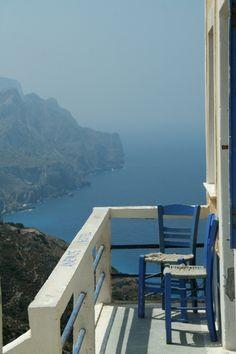 Olympos Village - Karpathos Island - Greece.Hey this was my little balcony on last jears vacation!!