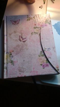Cuaderno Vogue reciclado,papel MP y purpurina