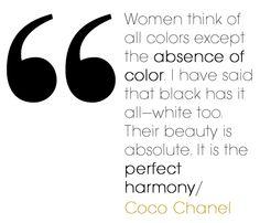 About black & white via glamazon Coco Chanel