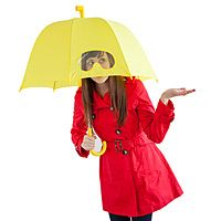 Play In The Rain  Captain! We're taking on water! We have to submerge! Up periscope! Dive! Dive!     Now, when was the last time a rain shower offered you that much excitement? With this sunny yellow umbrella, every rain cloud offers a return to childhood adventure - without even messing up your big-girl style.
