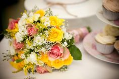 yellow and pink rose bouquet - Google Search