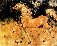 kuda putih karya affandi