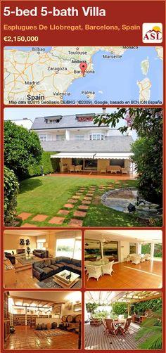 Villa for Sale in Esplugues De Llobregat, Barcelona, Spain with 5 bedrooms, 5 bathrooms - A Spanish Life Andorra, Bilbao, Toulouse, Valencia, Private Garden, Wine Cellar, Terrace, Pergola, Barcelona