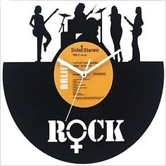 Retro LP Style DIY Wall Clock Acrylic with LP Cover Finished 12(30CM),Rock Design ** Discover this special product, click the image : home diy wall