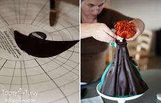 Im Topsy Turvy: Merida Cake Tutorial