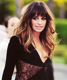Lea Michele..love her and love her hair! i am wayyy excited for her first album that is about to come out.